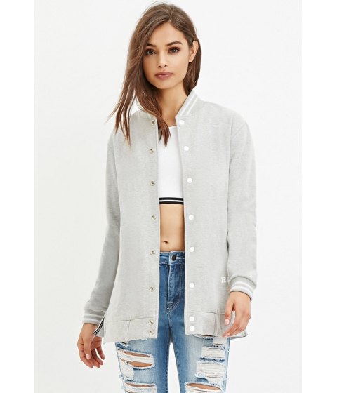 Imbracaminte Femei Forever21 Civil Girl Bomber Jacket Heather greywhite