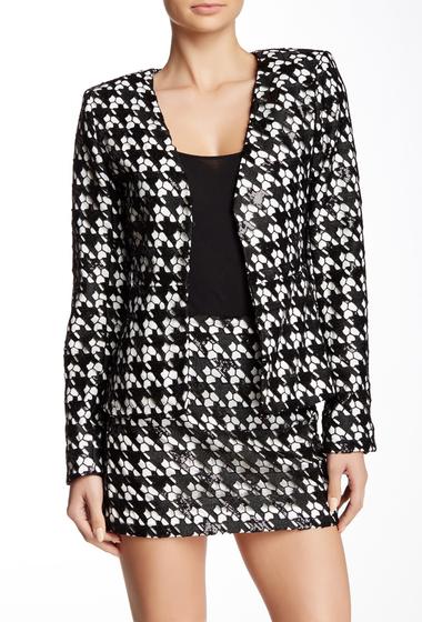 Imbracaminte Femei Rachel Zoe Nero Deep V-Neck Jacket BLACK-WHITE LINING