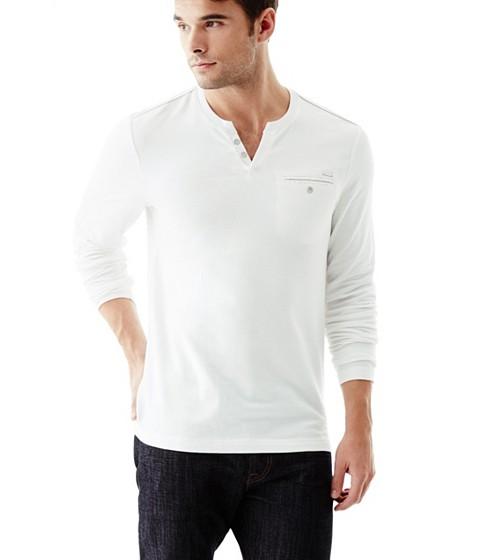 Imbracaminte Barbati GUESS Bransky Long Sleeve Tee true white
