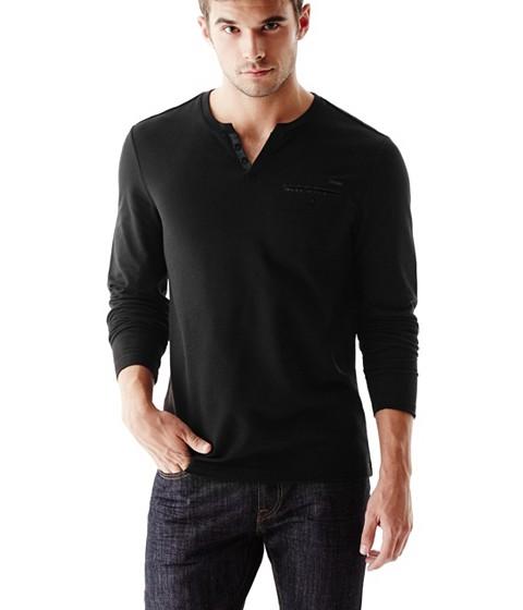 Imbracaminte Barbati GUESS Bransky Long Sleeve Tee jet black