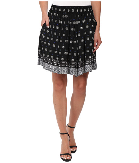 Imbracaminte Femei Vince Camuto Playful Foulard Border A-Line Mini Skirt Rich Black