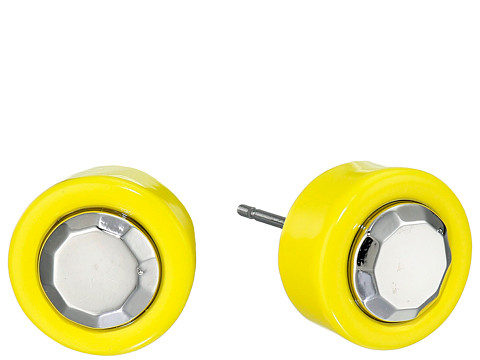 Bijuterii Femei Marc by Marc Jacobs Metal Kandi Circle Studs Earrings Disco Yellow