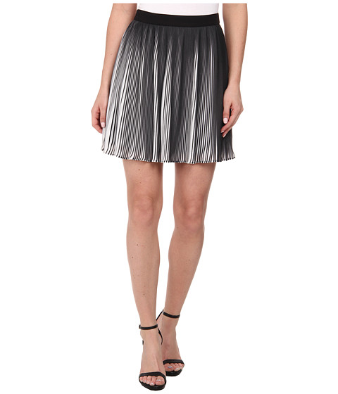 Imbracaminte Femei Sam Edelman Black and White Pleated Skirt BlackWhite