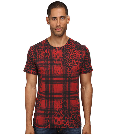 Imbracaminte Barbati Just Cavalli Buffalo Rebellion Tee Red Variant