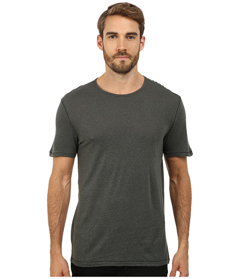 Imbracaminte Barbati John Varvatos Short Sleeved Crew Neck with Vertical Pickstitch Seam Details K2263R2L Shadow