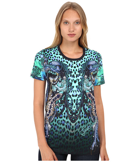 Imbracaminte Femei Just Cavalli Printed T-Shirt Creek Variant