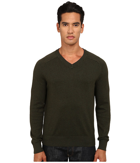 Imbracaminte Barbati Jack Spade Dexler Cotton V-Neck Sweater Dark Sage