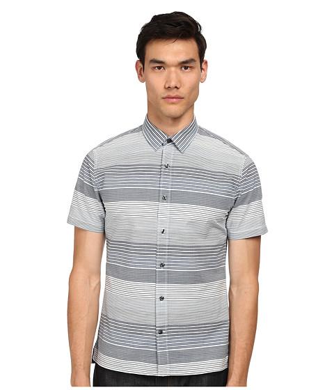 Imbracaminte Barbati Vince Striped Short Sleeve Button Up Shirt Nocturn