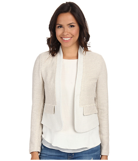 Imbracaminte Femei Rebecca Taylor Grid Tweed Jacket Light GreyChalk