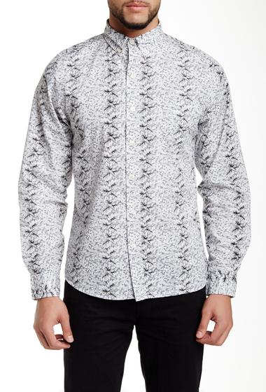 Imbracaminte Barbati Kennington Flower Line Up Long Sleeve Slim Fit Shirt GRAY