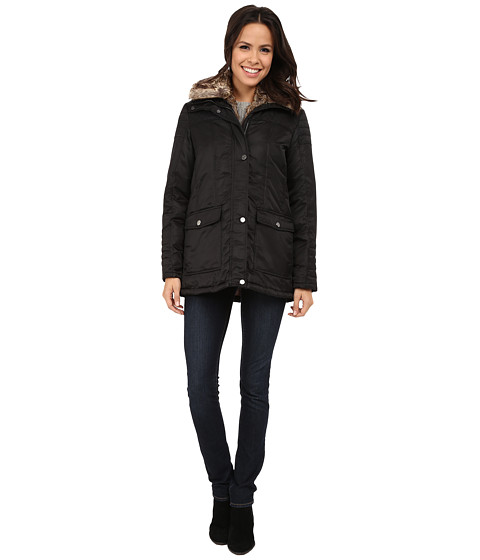 Imbracaminte Femei Kenneth Cole New York Zip Front Jacket with Removable Faux Fur Black