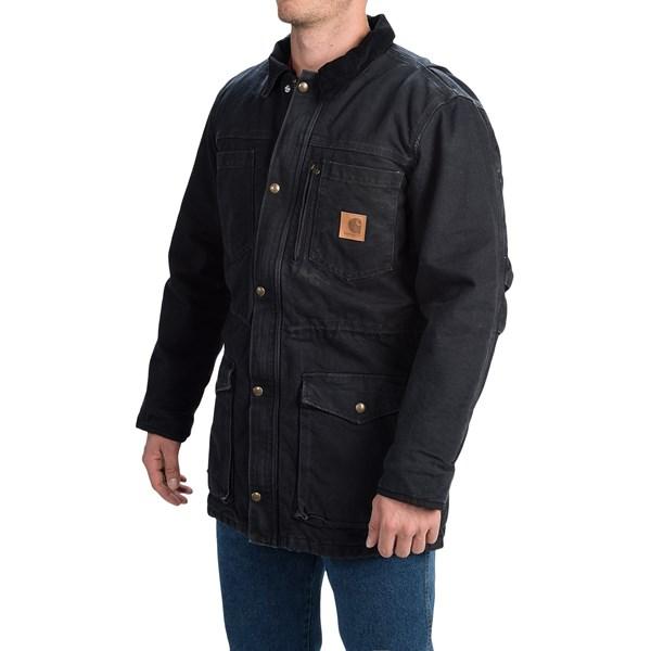 Imbracaminte Barbati Carhartt Canyon Sandstone Duck Coat BLACK (01)