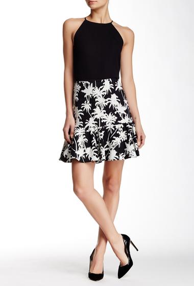 Imbracaminte Femei Nicole Miller Palm Ruffle Skirt BLACK-WHITE