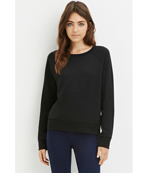 Imbracaminte Femei Forever21 French Terry Pullover Black