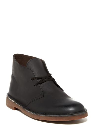 Incaltaminte Barbati Clarks Bushacre Chukka Boot BLACK LEAT