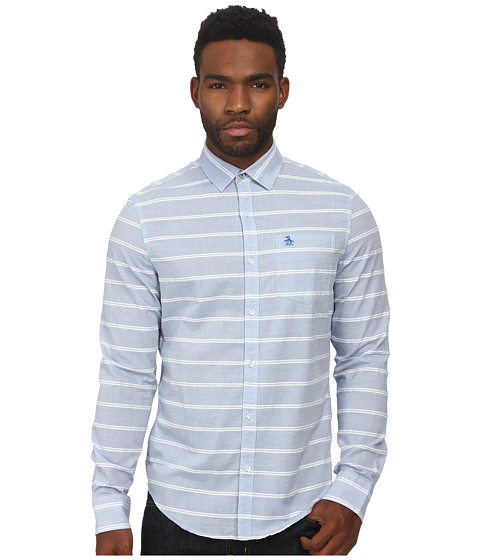 Imbracaminte Barbati Original Penguin Horizontal Dobby W End On End Stripe Long Sleeve Woven Heritage Shirt Skydiver