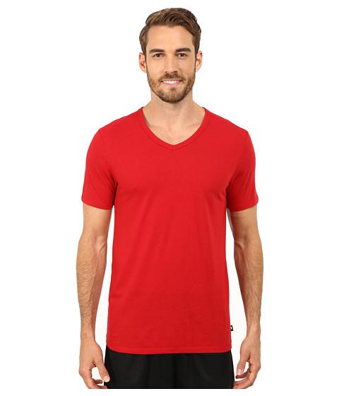 Imbracaminte Barbati Nike Solid Futura V-Neck Tee Gym Red