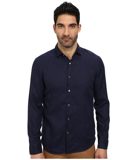 Imbracaminte Barbati Michael Kors Tailored Garment Dye Linen Shirt Indigo