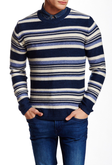Imbracaminte Barbati Gant Rugger R Stripe O Rama Sweater DENIM