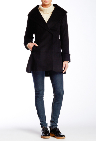 Imbracaminte Femei Trina Turk Ali Wool Blend Coat BLACK