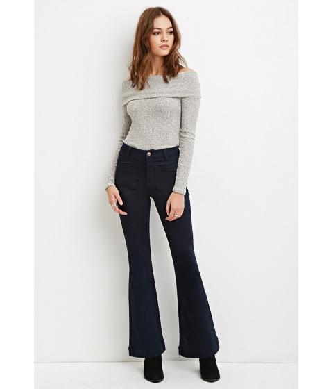 Imbracaminte Femei Forever21 High-Waisted Flared Jeans Indigo