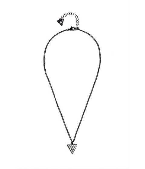 Bijuterii Femei GUESS Hematite-Tone Triangle Charm Necklace hematite