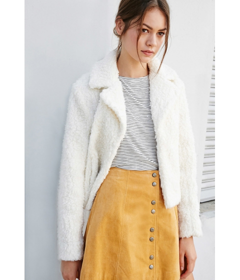 Imbracaminte Femei Forever21 Faux Shearling Jacket Cream