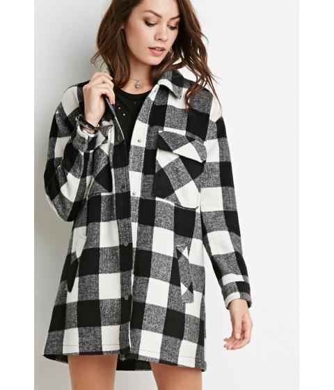 Imbracaminte Femei Forever21 Buffalo Plaid Shirt Jacket Ivoryblack