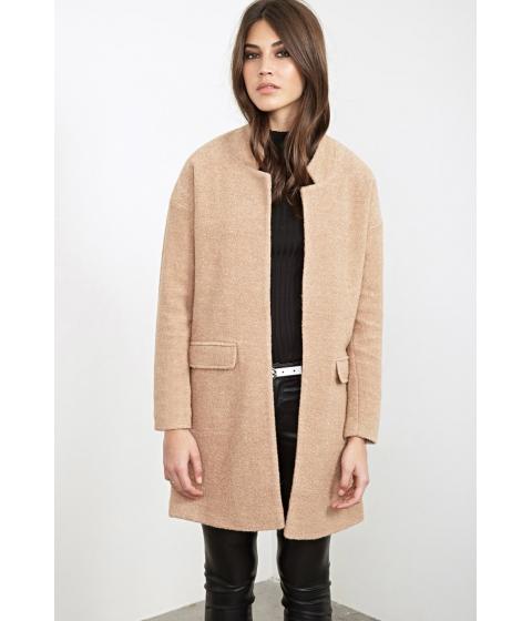 Imbracaminte Femei Forever21 Open-Front Textured Coat Camel