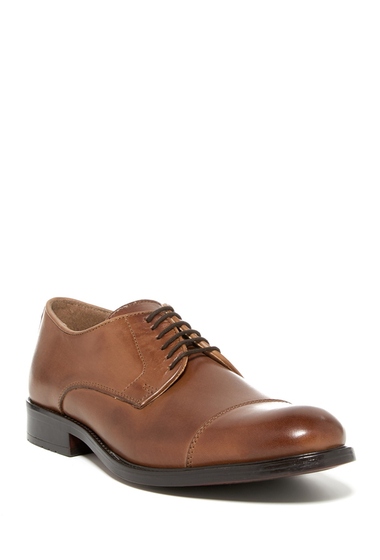 Incaltaminte Barbati Joseph Abboud Rosen Cap Toe Derby TAN LEATHER