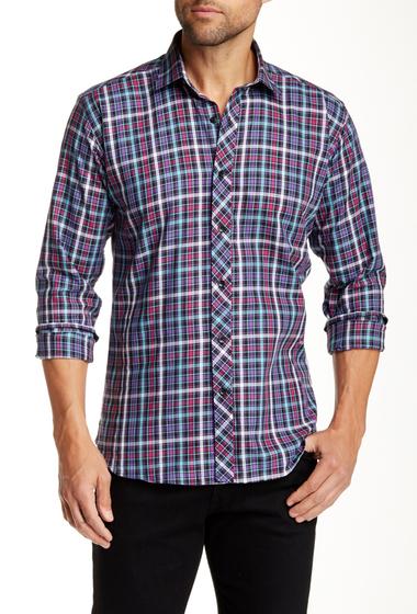 Imbracaminte Barbati Jared Lang Long Sleeve Plaid Semi-Fitted Shirt PURPLE PLAID