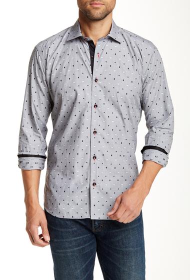 Imbracaminte Barbati Jared Lang Long Sleeve Semi-Fitted Shirt GREY MINI BOXES