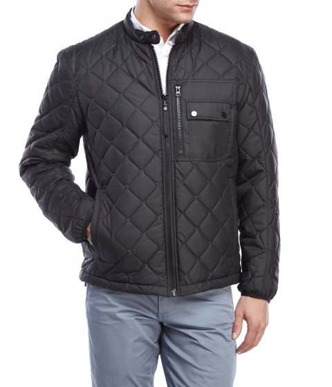 Imbracaminte Barbati Marc New York by Andrew Marc Quilted Moto Jacket Black