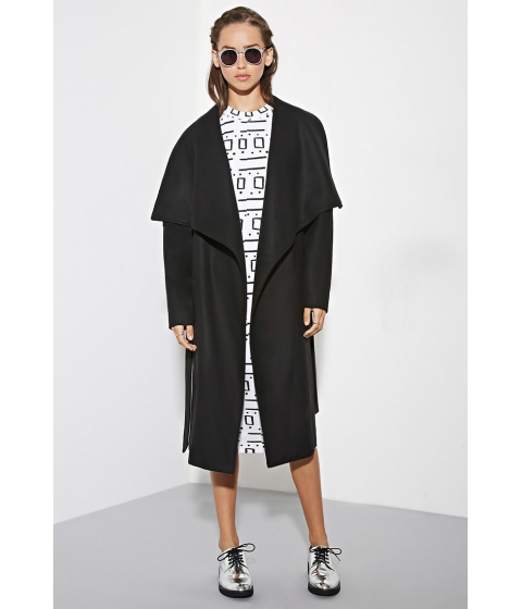 Imbracaminte Femei Forever21 The Fifth Label City of Sound Coat Black