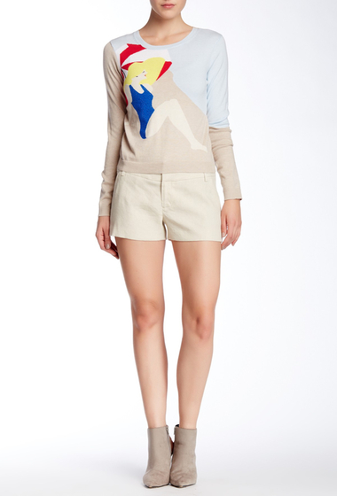 Imbracaminte Femei Alice Olivia Linen Blend Cady Short NATURAL