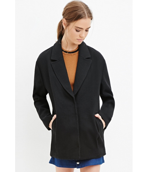 Imbracaminte Femei Forever21 Textured Boxy Coat Black