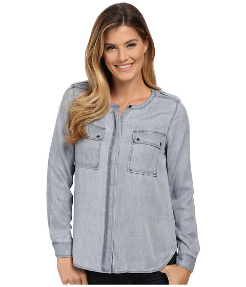 Imbracaminte Femei Vince Camuto Long Sleeve Pastel Fade Collarless Utility Shirt Wash Orchid