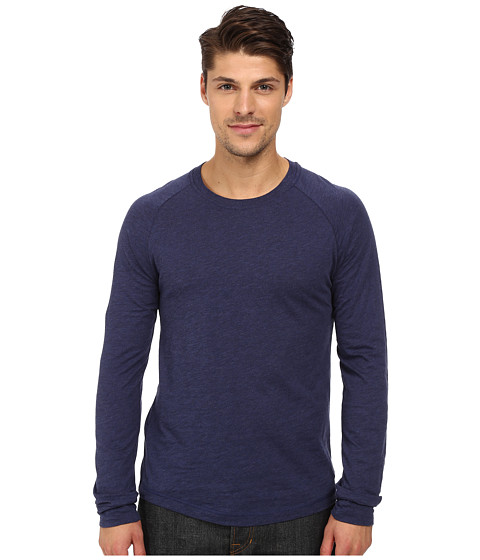 Imbracaminte Barbati Original Penguin New Bada Long Sleeve Heritage Medieval Blue