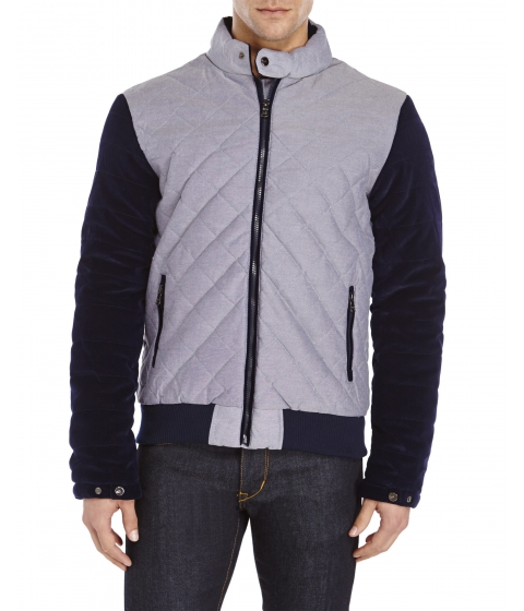 Imbracaminte Barbati American Stitch Corduroy Sleeve Quilted Jacket Chambray Blue
