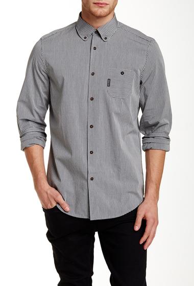 Imbracaminte Barbati Ben Sherman Long Sleeve Twisted Bengal Regular Fit Shirt B32JET BLA