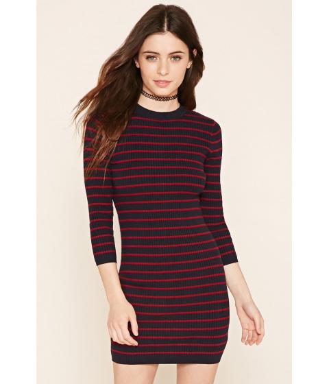 Imbracaminte Femei Forever21 Striped Sweater Dress Dark navybrick