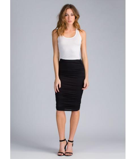 Imbracaminte Femei CheapChic Ruched And Ready Draped Midi Skirt Black