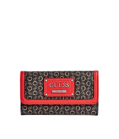 Genti Femei GUESS Proposal Large Wallet coral multi