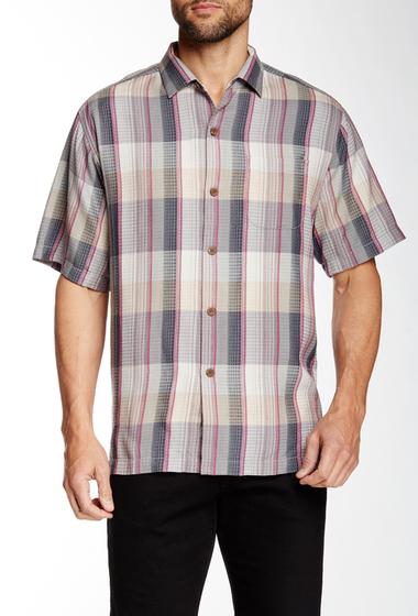 Imbracaminte Barbati Tommy Bahama Ponte De Plaid Short Sleeve Original Fit Silk Shirt SHADOW