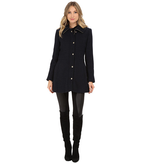 Imbracaminte Femei Jessica Simpson Zip Front Braided Wool with Placket Navy