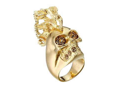 Bijuterii Femei Alexander McQueen Skull Punk Fish Small Ring GoldTopaz