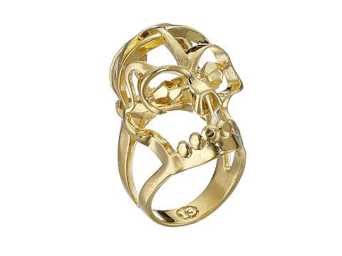 Bijuterii Femei Alexander McQueen Deco Skull Small Ring New Oro