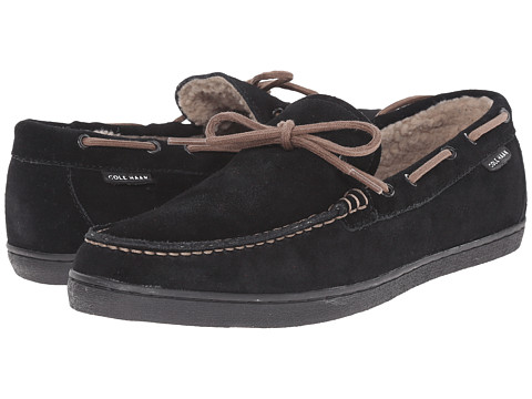 Incaltaminte Barbati Cole Haan Nantucket Camp Moc Shearling Black Suede