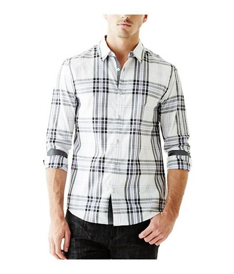 Imbracaminte Barbati GUESS Daley Plaid Long-Sleeve Shirt true white multi