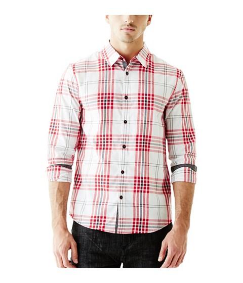 Imbracaminte Barbati GUESS Daley Plaid Long-Sleeve Shirt red hot multi